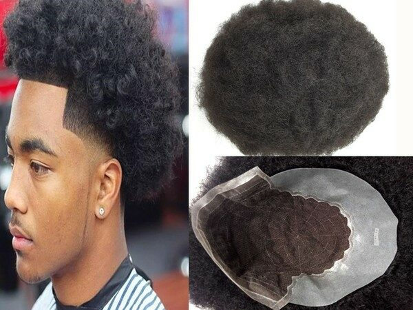 Men Toupee Black